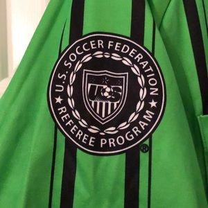 a6c7bbb02 Official Sports International Shirts - Official Sports Green Soccer Referee  Jersey Size M